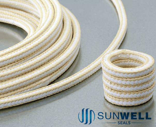 White PTFE Packing with Aramid Corners